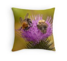 Busy Bees Throw Pillow