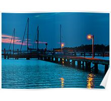 After Sunset at Pearson Park Wharf  Poster