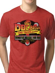 Doc E. Brown Time Travel Services Tri-blend T-Shirt