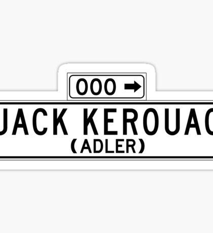 Jack Kerouac, San Francisco Street Sign Sticker