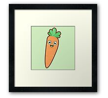 Kawaii Carrot Framed Print