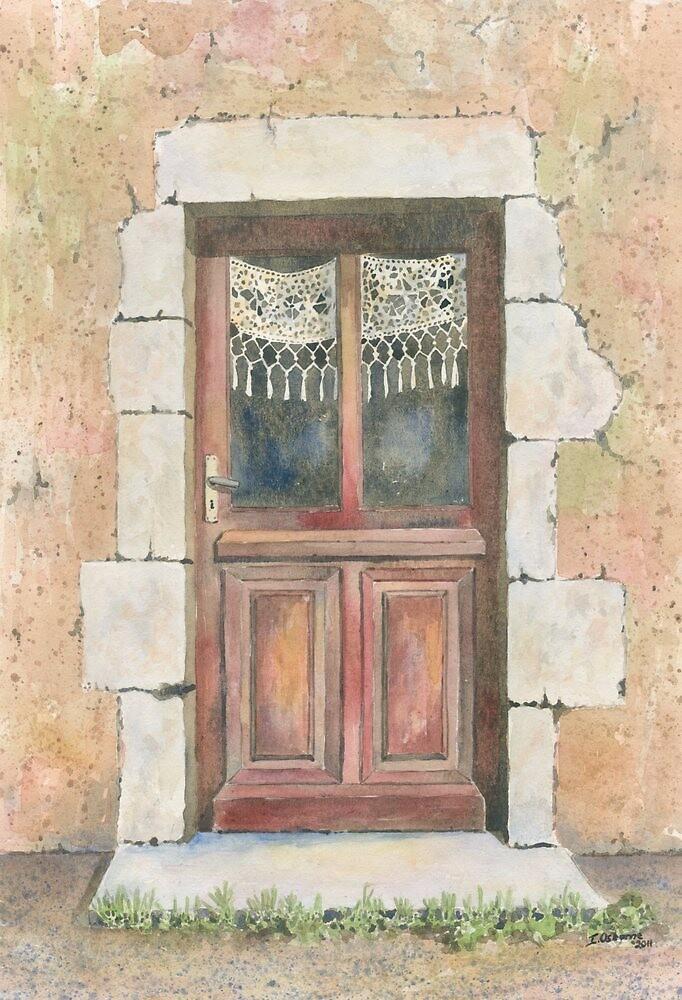 Door, Chez Bourret, France by ian osborne