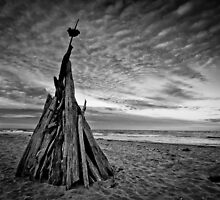 Two Teepees by Mel Sinclair