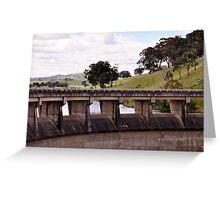 Wall at Carcoar Dam NSW Australia Greeting Card
