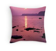 KImmeridge Sunset Throw Pillow