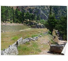 The Stadion of the Pythian Games in Delphi Poster
