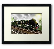 """""""Lord Nelson"""" Antique Steam Locomotive [Digital Drawing] Framed Print"""