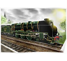 """""""Lord Nelson"""" Antique Steam Locomotive [Digital Drawing] Poster"""
