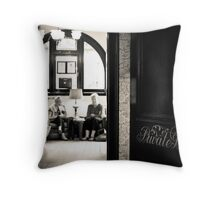 Private Bar Throw Pillow