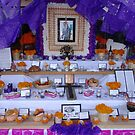 All Souls&#x27; Day at the city hall of Puerto Vallarta - altar in blue by Bernhard Matejka