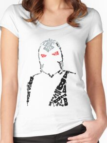 Bane Typography Women's Fitted Scoop T-Shirt