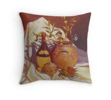 Banksia and Chianti Throw Pillow