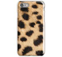 Cheetah hide - big pattern iPhone Case/Skin