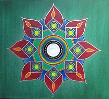Introvert - Hand Painted Mandala on Canvas by lightchasers