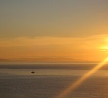 Fisherman at Sunrise by Rachel Tyrrell