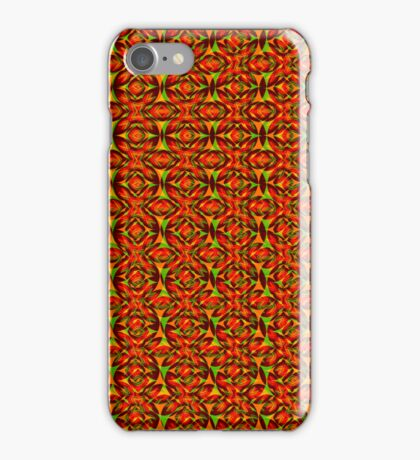 Green and red flowers iPhone Case/Skin