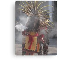 Praying, singing and dancing into a state of trance - Indian celebration Canvas Print
