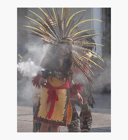 Praying, singing and dancing into a state of trance - Indian celebration Photographic Print