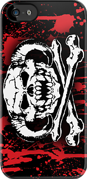 Wampa Skull Blood iPhone cover by wampadude