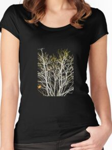 Iceland Tree 1 Women's Fitted Scoop T-Shirt