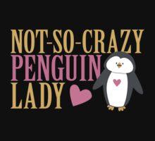 NO-SO-CRAZY penguin LADY Kids Tee