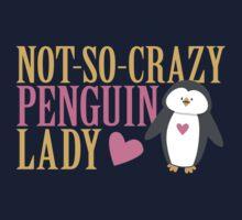 NO-SO-CRAZY penguin LADY Baby Tee