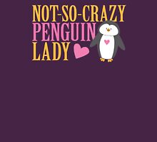 NO-SO-CRAZY penguin LADY Womens Fitted T-Shirt