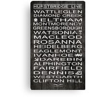 Hurstbridge Line Canvas Print