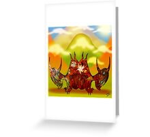 Pencil Dragons and Clouds Greeting Card
