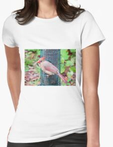 Pretty Female Northern Cardinal Womens Fitted T-Shirt