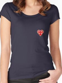 Folk Heart 1 Women's Fitted Scoop T-Shirt