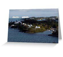 Morning Sun Striking  Islands in Granaway Deep, Bermuda Greeting Card