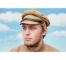 Portrait of soldier in retro style picture Photographic Print
