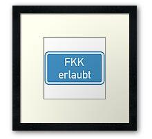 Nudism Allowed Sign, Germany Framed Print