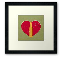 Bullet In My Heart Framed Print