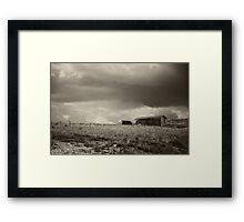 There Will Be Flood - B/W Framed Print
