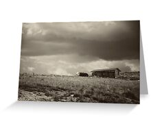 There Will Be Flood - B/W Greeting Card