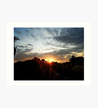 Sunset, Ward Park, Bangor Art Print