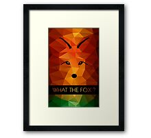 What the Fox ? multicolor Framed Print