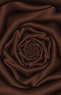 Chocolate Spiral Rose by Objowl