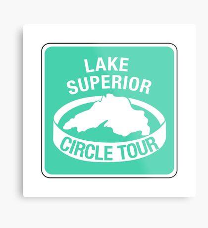 Lake Superior Circle Tour, Traffic Sign Metal Print