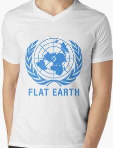 Flat Earth Mens V-Neck T-Shirt