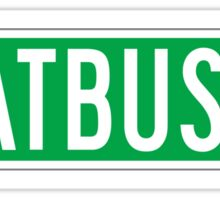 Flatbush Av., New York Street Sign Sticker