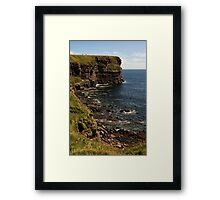 Standing at the Top of Scotland Framed Print