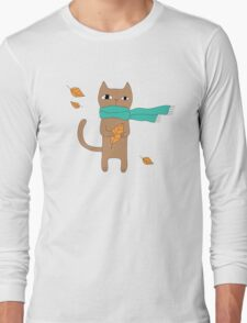 Autumn Cat Long Sleeve T-Shirt