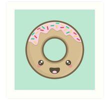 Kawaii Donut Art Print