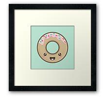 Kawaii Donut Framed Print