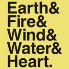 Earth&amp;Fire&amp;Wind&amp;Water&amp;Heart (Black) by BiggStankDogg