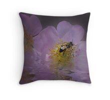 Gathering Pollen Throw Pillow