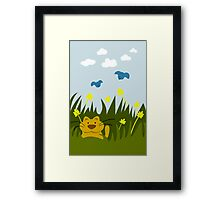 Cat Looking For Mole Framed Print